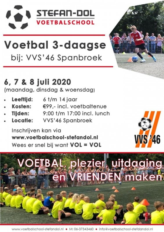Zomer voetbalkamp 6, 7 en 8 juli 2020