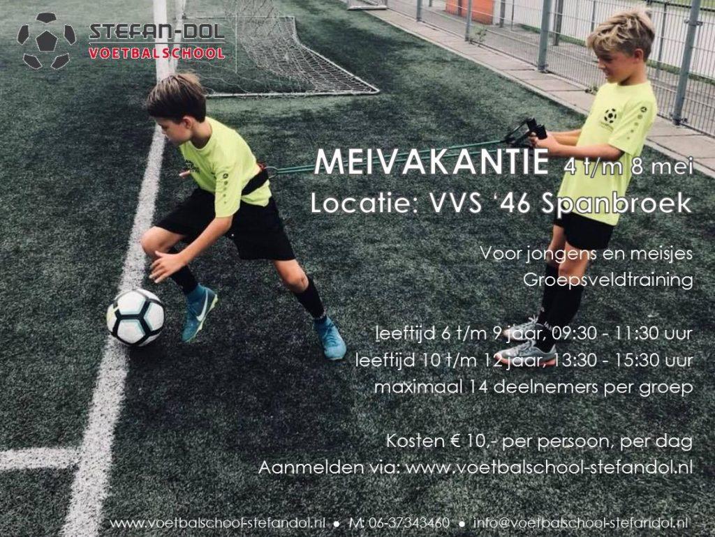 Meivakantie: voetbal 1-5 daagse