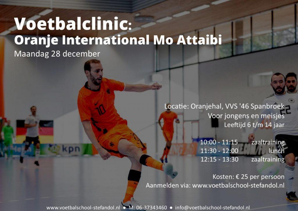 Voetbalclinic oranje international Mo Attaibi