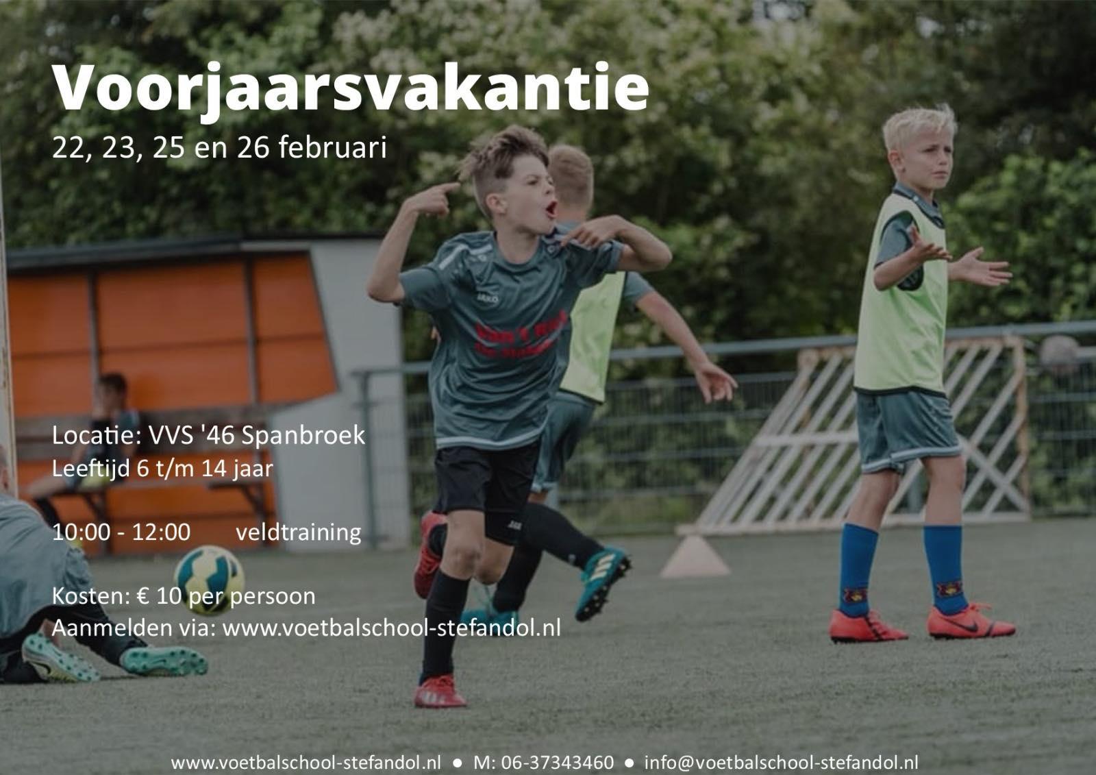 Voorjaarsvakantie 1-5 daagse voetbaldagen