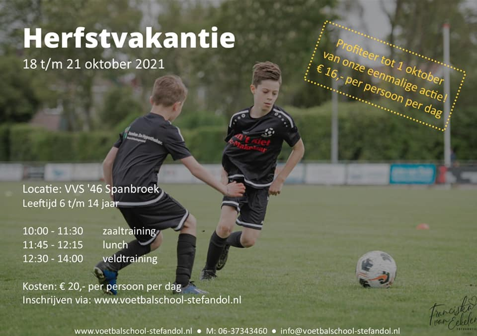 1-4 voetbaldaagse Herfstvakantie